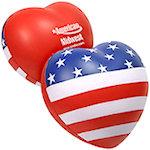 Patriotic Valentine Heart Stress Balls